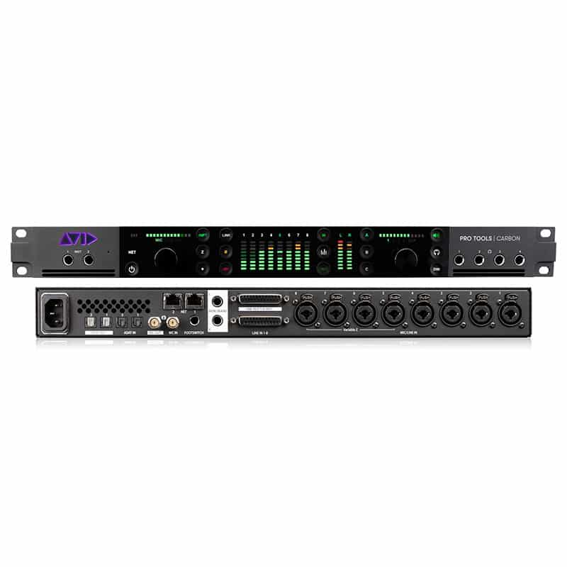 avid protools carbon Front and back showroomaudio